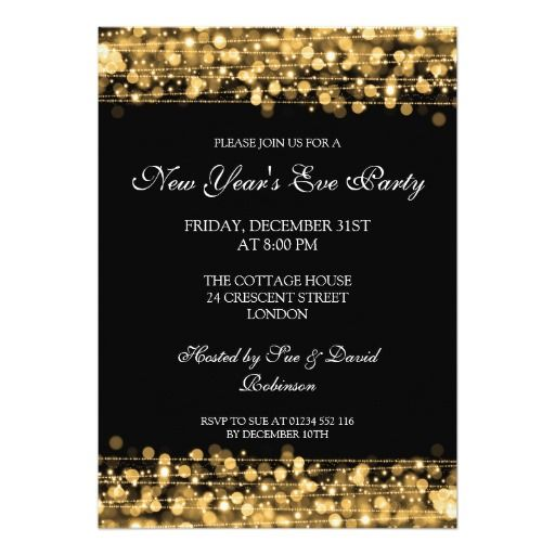 155 best new years eve wedding invitations images on Pinterest - business invitation templates