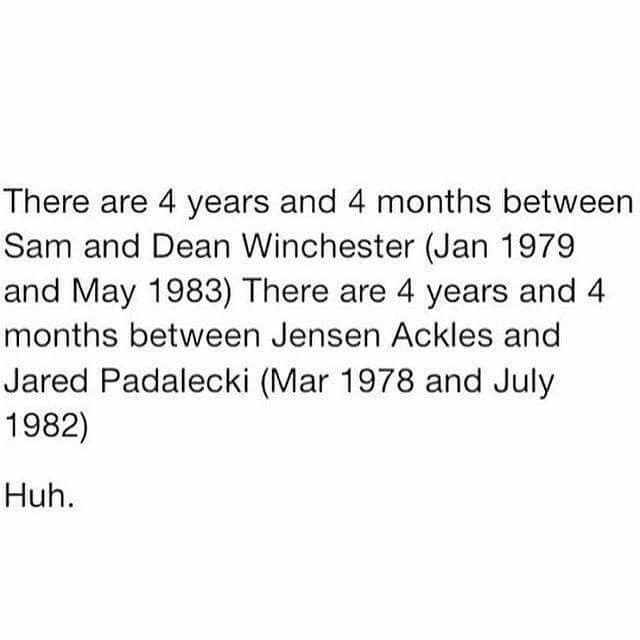 Jensen Ackles // Jared Padalecki // Padackles // J2 // Age