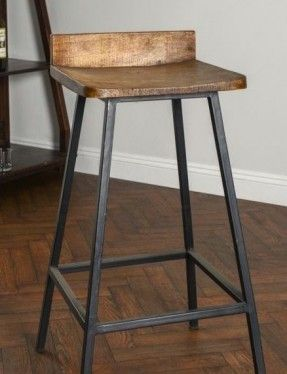 Square Wooden Seat Bar Stool High Chair Kitchen Counter Metal Rustic Industrial #Kosas #RusticModern & Best 25+ Bar stools kitchen ideas on Pinterest | Counter stools ... islam-shia.org