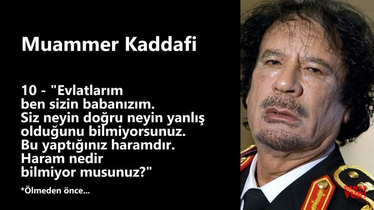 Dont Forget Kaddafi