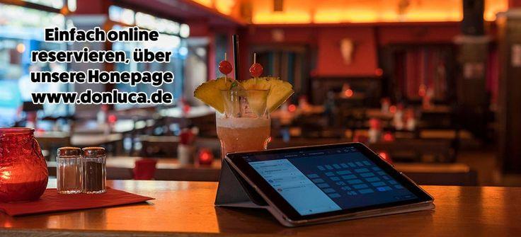 Ganz einfach online, in wenigen Sekunden, einen Tisch bei uns reservieren.    Einfach ueber unsere Homepage.    Don Luca mexikanisches Restaurant   www.donluca.de #DonLuca #mexikanisch #Restaurant #Bar #Cocktailbar #Cantina #mexican #Mexicaner #Muenchen #Schwabing #Don #Luca #HappyHour #mexikanischesEssen