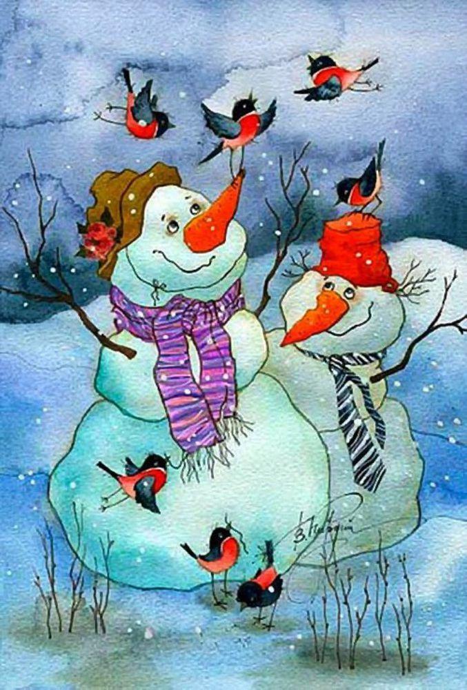 искусство, красивый веселые картинки о зиме т морозе того