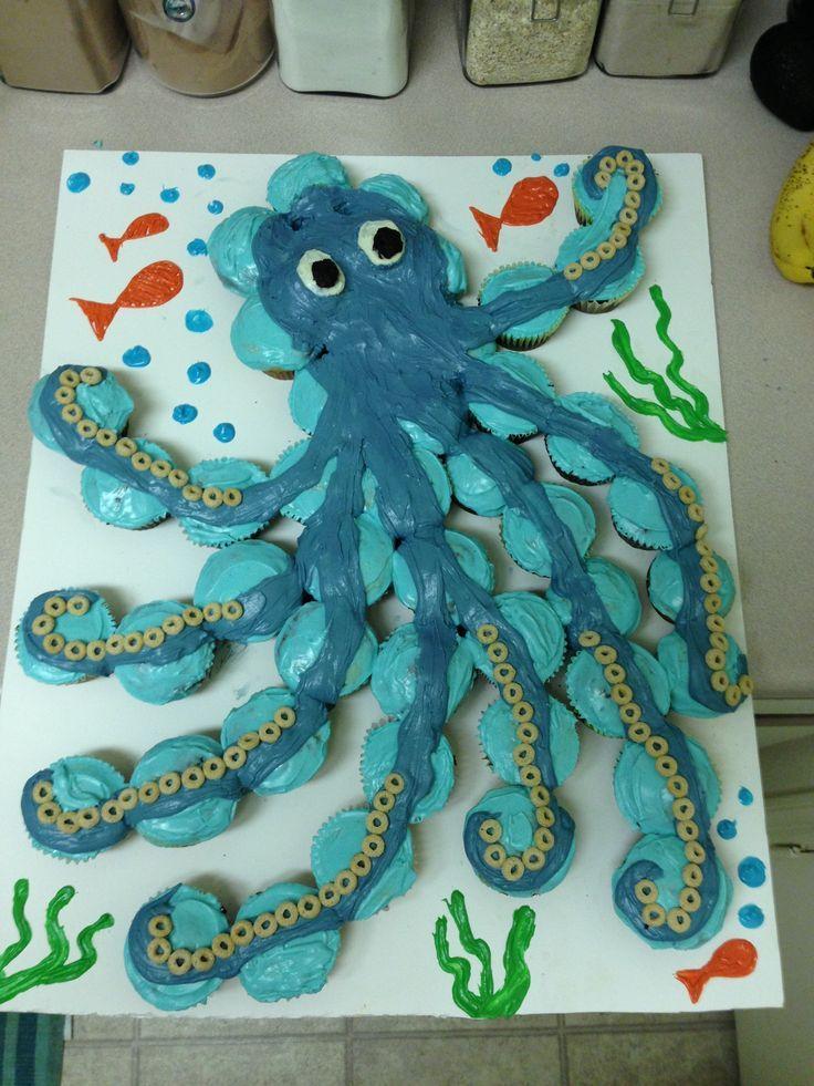 Octopus cupcake cake! More