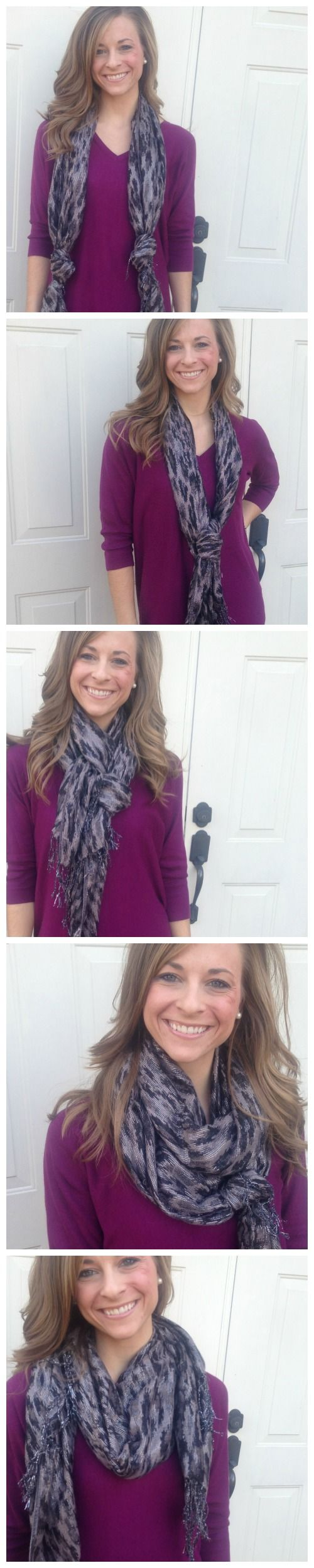 5 Ways to Tie a Scarf for Winter! Keep this on hand for all of your Holiday Parties and Events!