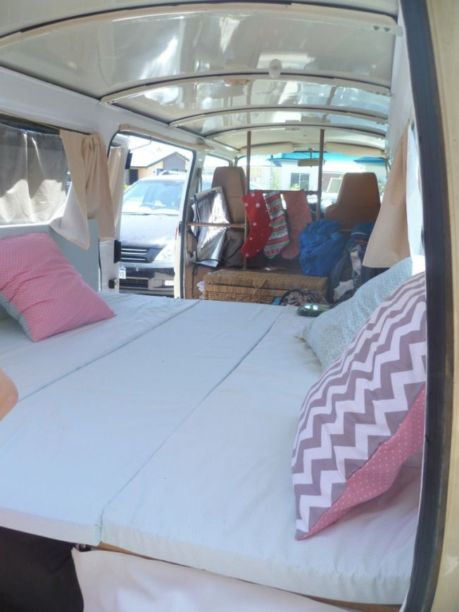 Small Conversion Vans >> Christmas stockings inside our vintage camper van | Camper ...