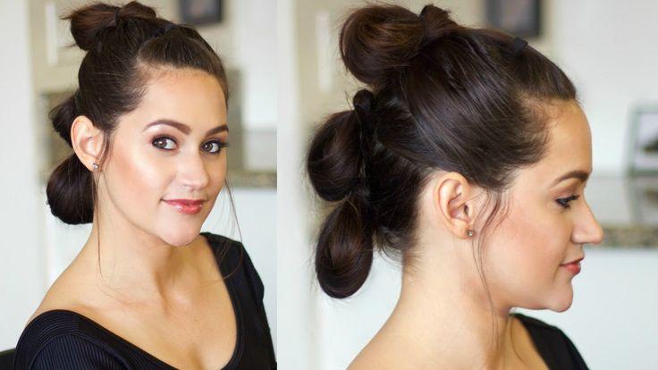 Star Wars Hair Tutorial   Rey's Triple Buns