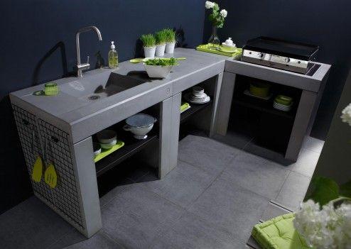 28 best Cuisine extérieure images on Pinterest Kitchen ideas, Home - beton cellulaire exterieur barbecue