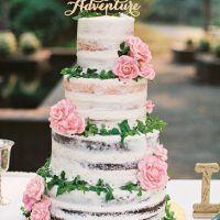 Wedding Cake Trends - Naked Cake - photo by Jamie Rae Photography
