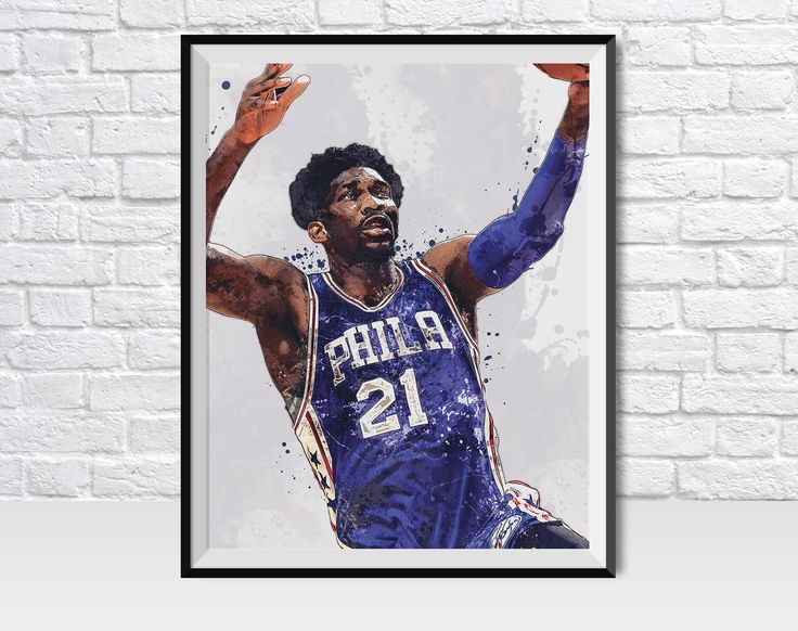 Joel Embiid Philadelphia 76ers Paint Splatter Poster / Canvas Print.High-quality prints, which make for the perfect gift for any fan, home, man cave, bedroom, or sports bar / pub decor.•••••••••••• POSTER PRINTS ••••••••••••• Printed on Premium Gloss Poster Paper (Epson 10.3 mil / 250 gsm).• Epson UltraChrome HD Ink (longer lasting, better color, resistant to UV fade).• 1-3 Open-Day Processing for most orders.• PICTURE FRAMES ARE NOT INCLUDED•••••••••••• CANVAS PRINTS ••••••••••••• Mounted: Canv