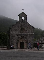 Roncesvalles, Spain in Basque country and near where the legendary Roland and Charlemagne did battle.