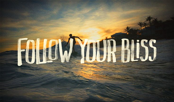 Follow Your Bliss sunset waves surfThe Journey, Types Design, Motivation Mondays, Quotes Life, Living, Bliss, The Waves, Mean Quotes, Inspiration Quotes