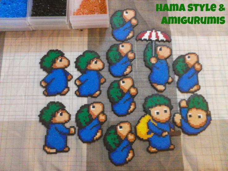 Hama Style & Amigurumis: Lemming - Hama Mini