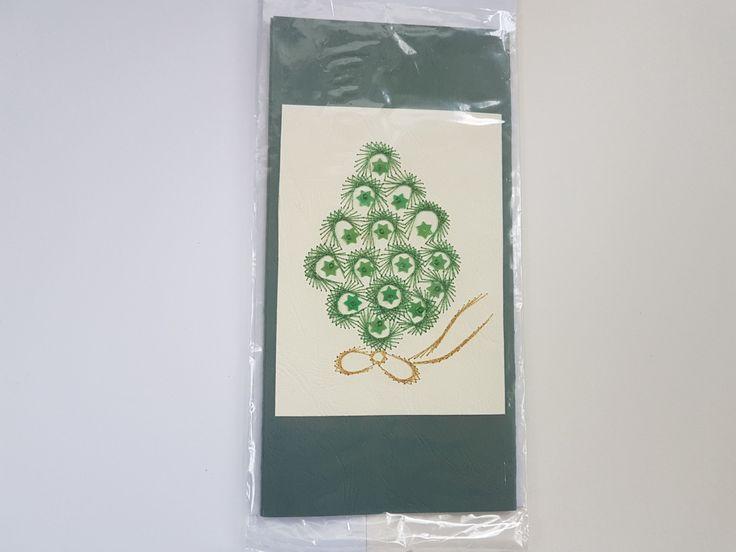 Handmade embroidered Christmas greetings card with envelope, Christmas embroidered Post Card, Christmas gift,New Year card by GrandmasOldBox on Etsy