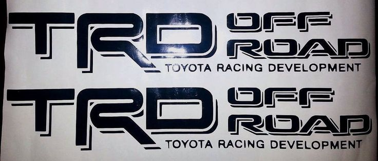 2 Toyota TRD Side Vinyl Decals for Tundra Tacoma Truck Bed Off Road 4x4 by SharisVinylEmporium on Etsy