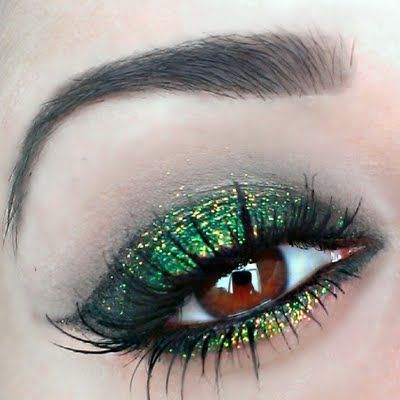 Wear a glittery green eye makeup this St. Patrick's Day. Own this look with the must have products and tutorial.