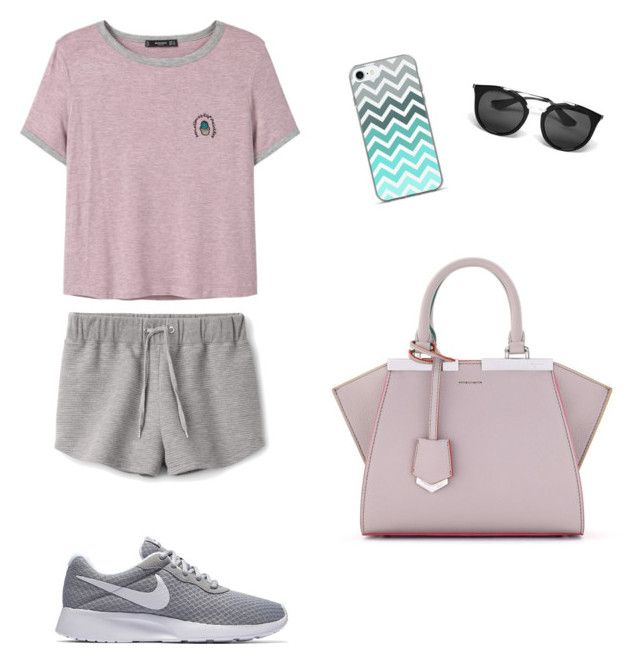"""Día Perezoso"" by antoberneche on Polyvore featuring MANGO, Prada, Fendi and NIKE"