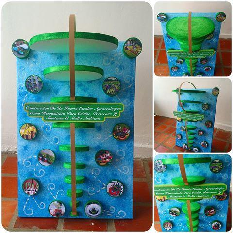 Resultado de imagen para cartelera del medio ambiente con material reciclable
