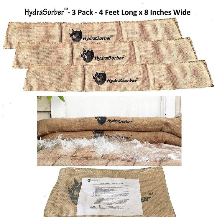 Home Flood Protection 3 Pack Storm Bags Sandless Sandbags Quick Levee Rain Water #SandlessSandbagsFloodProtection