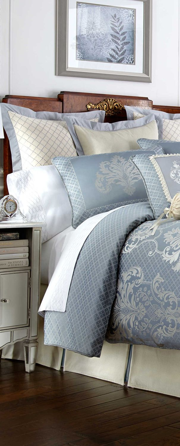 Waterford....Love, love, love it.  Want to change up my bedroom to this color and feel.