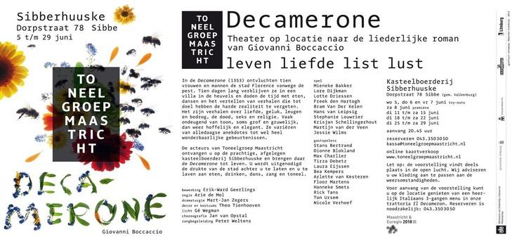 Toneelgroep Maastricht playing 'Decamerone', starting June 8th! #maastricht #art