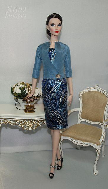 Midnight Star Elise Fashion Royalty in Arina fashions | Flickr - Photo Sharing!