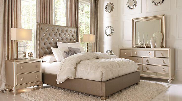 picture of Sofia Vergara Paris Gray 5 Pc Queen Bedroom from Furniture