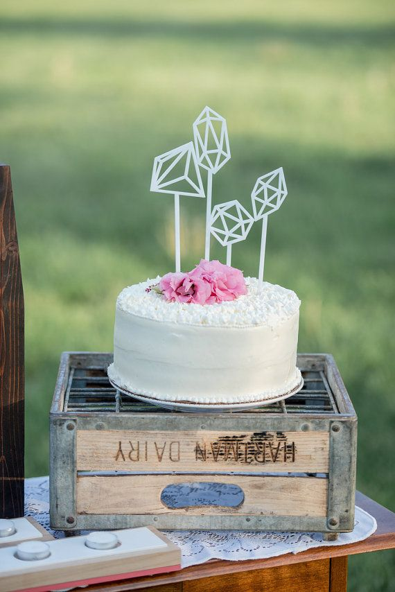 Geometric Cake Toppers Set: available in by hostandtoaststudio