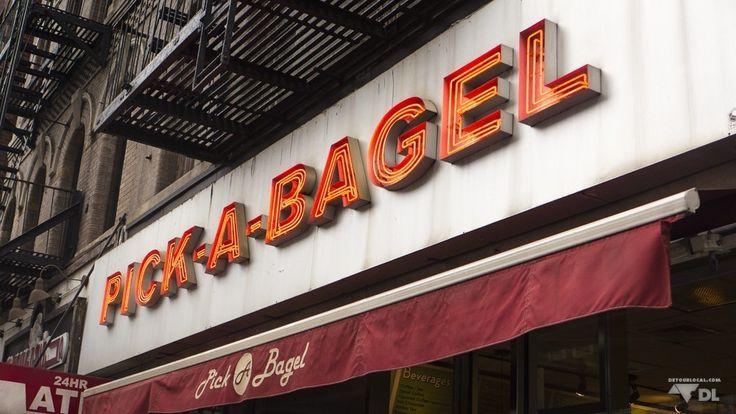 Bagel Shop dans le quartier de notre hôte d'AirBnB sur l'île de Manhattan à New York