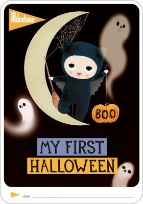 'MY FIRST HALLOWEEN' FREE PRINTABLE Capture your little ones first Halloween and remember it forever! http://www.milestone-world.com/en/free-printables/2016/10/my-first-halloween/151#/images/1