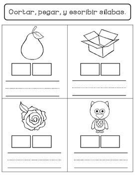 spanish syllables worksheets primero conciencia fonol gica materiales didacticos y espa ol. Black Bedroom Furniture Sets. Home Design Ideas
