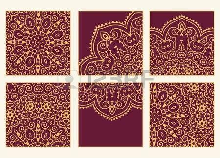 india ornamento: Mano tarjeta de felicitación dibujado ornamento ilustración concepto. Diseño del modelo del cordón. Vector decorativo bandera de la tarjeta de invitación o diseño de la vendimia tradicional, Islam, árabe, indio, motivos otomanos, elementos. Vectores