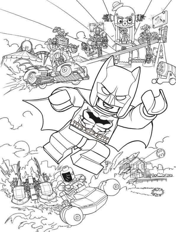 Coloring Page Lego Batman Movie Action