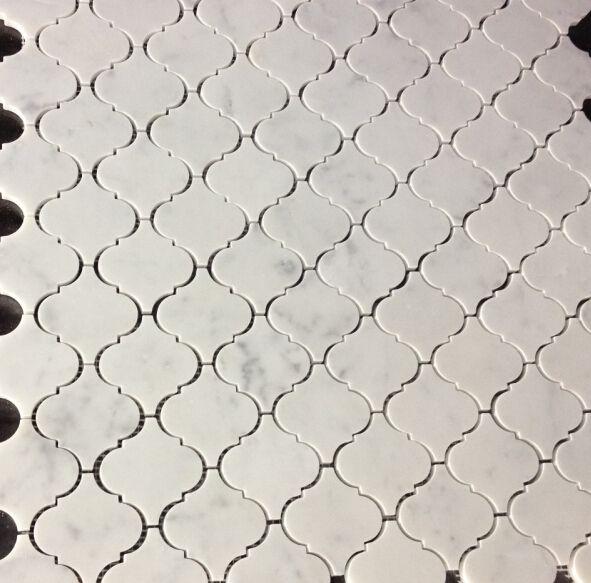 22 vierkante meter luxe carrarra wit marmer mozaïektegels muur gemonteerde tv achtergrond mesh tegels tegels(China (Mainland))