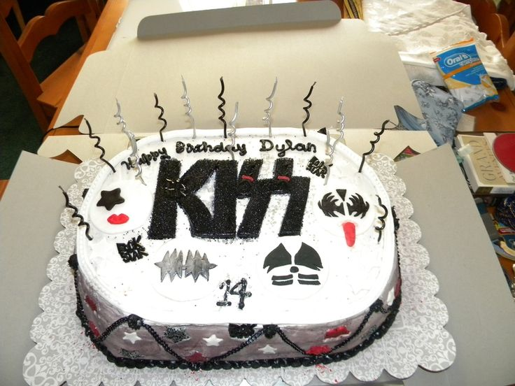 Teen Boy Cakes | KISS cake for teenage boy — Birthday Cakes