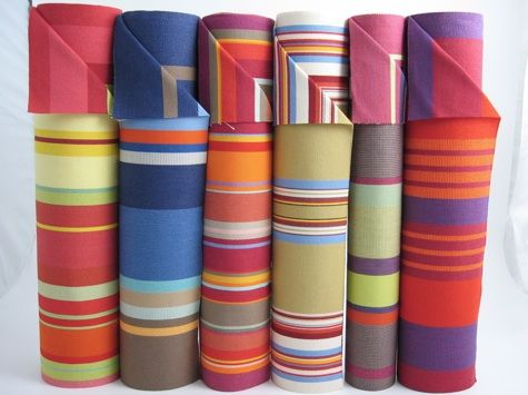 sunny striped fabrics from France. Les Toiles de Soleil shop.