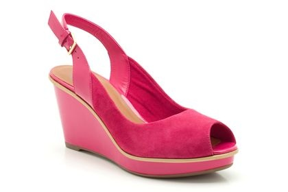 Womens Smart Sandals - Tonic Fizz in Fuchsia Suede from Clarks shoes