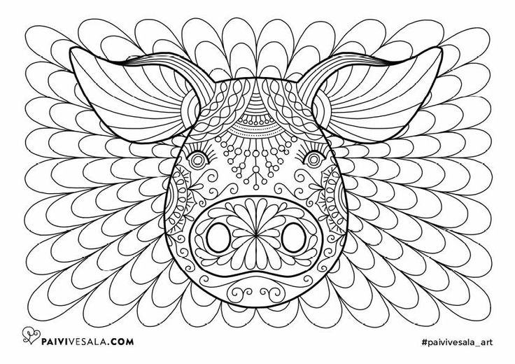 Free printable coloring page from Mental Images vol 3 coloring book