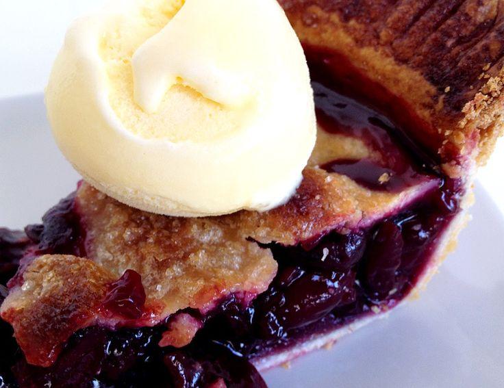 tartas con frutas tartas americanas tarta de cerezas recetas delikatissen postres tartas postres fáciles postres con cerezas postres americanos pies americanos recetas Cherry pie (tarta americana de cerezas)