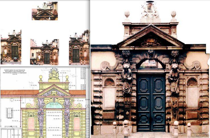 Historic monumental in Milan - Italy. Work by Fabio Carria architect - Portale Seminario Arcivescovile