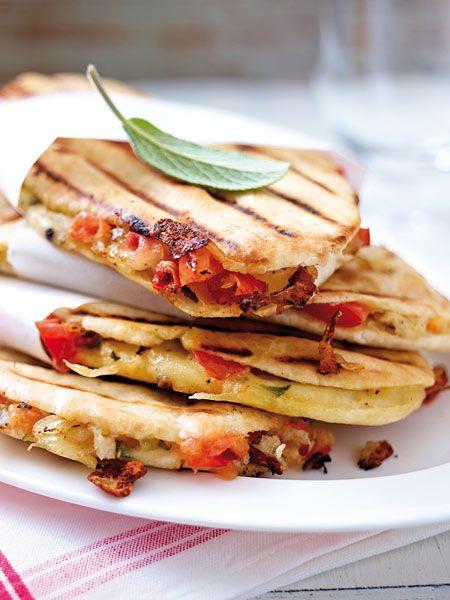 Veggie-Snack vom Grill: Tomaten-Panini