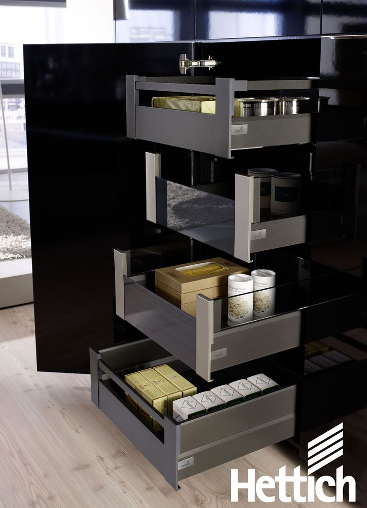ArciTech drawers can be used as a pantry tower. The perfect space saver. Click on the pin to read more.