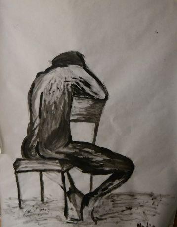 Miedo al vació - Pintura de Nadia Sentis