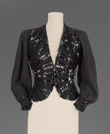 Women's evening jacket, American or European, 1935–40.