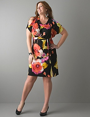 Watercolor Floral Dress (Layne Bryant) - this is going to be my dress for tomorrow.