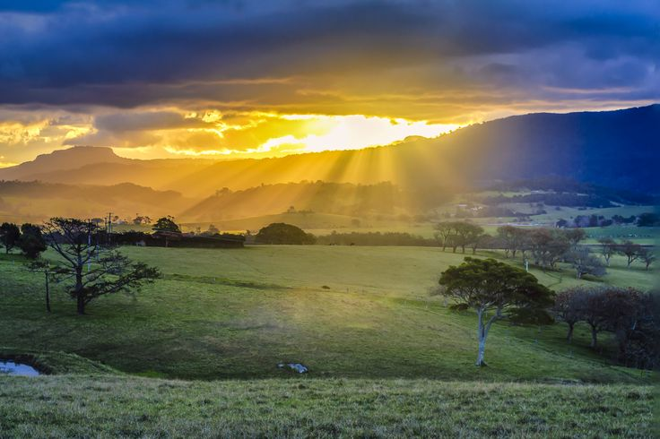Featured Photographer: Andy HutchinsonSetting sun over Toolijooa near Gerringong.  NSW