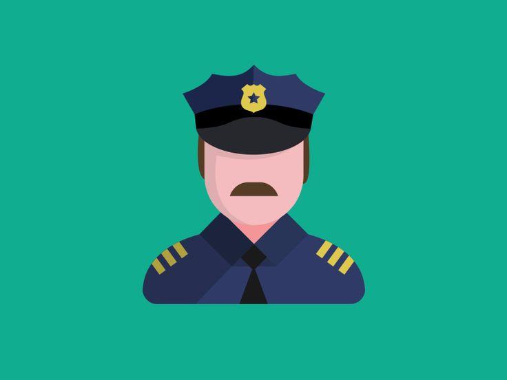 Police Flat Icon Flat Icon Icon Flat Design Icons