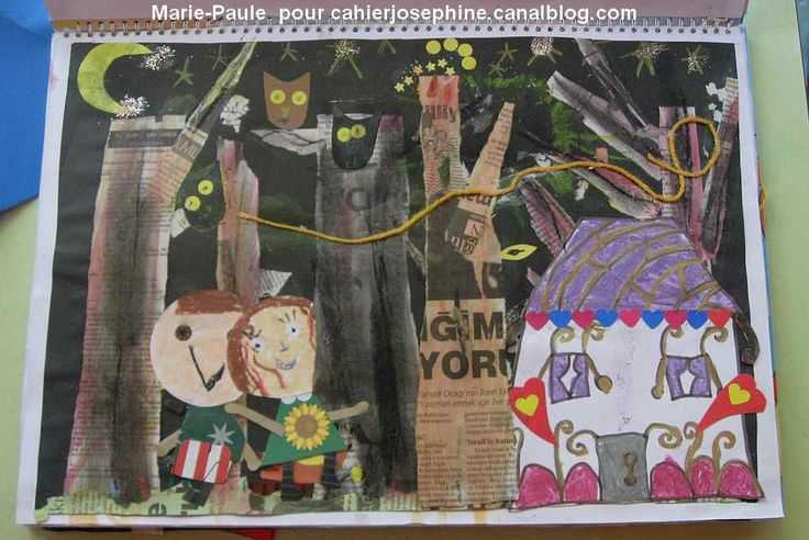 papier journal arbres, hansel et gretel