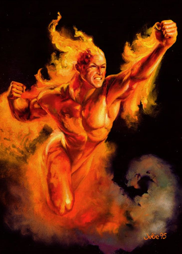 Human Torch by Julie Bell