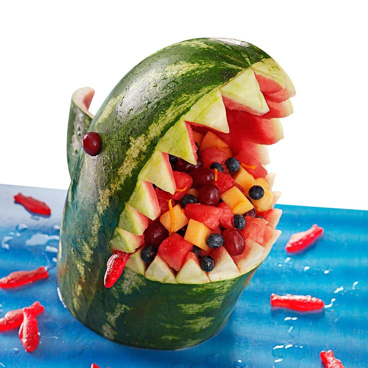 Watermelon Shark Recipe -Take a bite out of summer boredom with this kid-friendly food project. —Taste of Home Test Kitchen