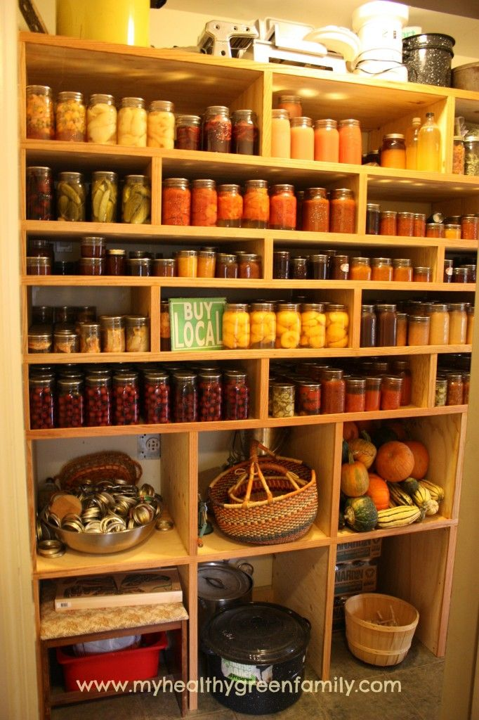 Canning Shelves 2014b watermarked *I would love to have a pantry like this!